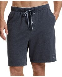 Nautica Knit Sleep Shorts (grey Heather) Men's Pajama - Gray