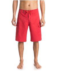 Quiksilver Ic 22 Inch Length Cargo Pocket Boardshort Swim Trunk - Red