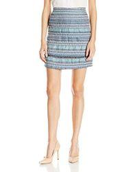 Nanette Nanette Lepore Boucle A-line Skirt - Blue