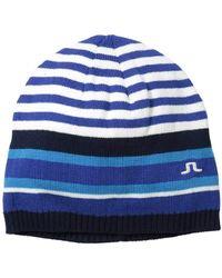 J.Lindeberg Malek Cotton Blend Golf Hat - Blue