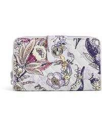Vera Bradley Signature Cotton Turnlock Wallet With Rfid Protection - Multicolor