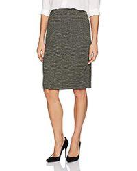 Kasper - Metallic Knit Slim Skirt - Lyst