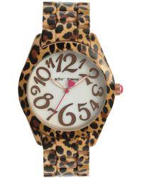 Betsey Johnson Cheetah Watch - Multicolor