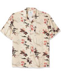 28 Palms Standard-fit Vintage Washed 100% Rayon Tropical Hawaiian - Natural