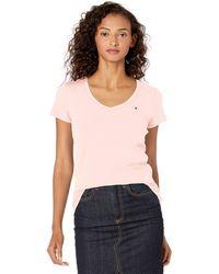 Tommy Hilfiger Short Sleeve V-neck T-shirt - Pink