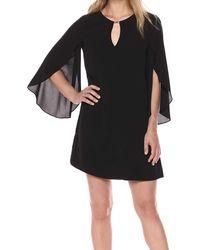 Kensie Flowy Easy To Wear Dress - Black