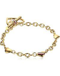 Tommy Hilfiger Jewelry Stainless Steel Open Heart Toggle Bracelet - Metallic