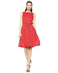 Anne Klein - Cotton Fit & Flare Dress - Lyst