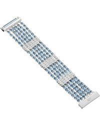Kenneth Cole Woven Bead Multi Row Bracelet - Blue