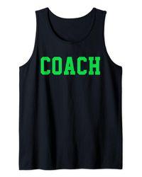 COACH Green Tank Top - Black