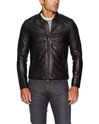 J.Lindeberg Grain Leather Jacket - Black