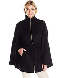 Laundry by Shelli Segal - Wool-cape W/sleeves - Lyst