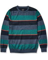 RVCA Mens Kemper Striped Knit Sweater