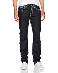 True Religion Ricky Super T Straight Leg Jeans - Blue