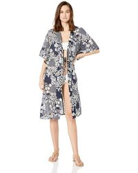Vince Camuto Kimono Swimsuit Cover Up - Blue
