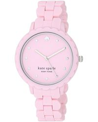 Kate Spade Morningside Quartz Silicone Three-hand Sports Watch - Pink