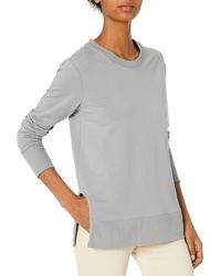 Daily Ritual Terry Cotton And Modal Pullover With Side - Gray