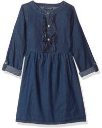U.S. POLO ASSN. Girls' Little Casual Dress - Blue