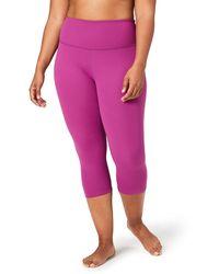 Core 10 Plus Size Spectrum Yoga High Waist Capri Legging - Purple