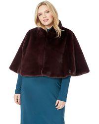 Betsey Johnson Size Faux Fur Cape - Multicolor