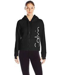 Calvin Klein - Performance Bonded Knit Logo Jacket - Lyst