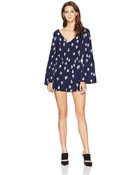 Cupcakes And Cashmere - Harley Paisley Pirnted Bell Sleeve Romper - Lyst