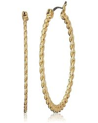 Napier - Gold-tone Click It Hoop Earrings - Lyst
