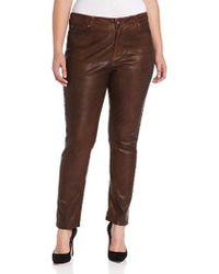 NYDJ - Plus-size Sheri Skinny Jeans Terra Tan, Terra Tan, 16 Wide - Lyst