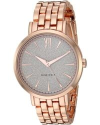 Nine West Rose Gold-tone Bracelet Watch - Metallic