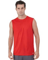 Russell Athletic Dri-power Performance Mesh Sleeveless Muscle - Red