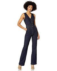 Ella Moss Denim Vest Jumpsuit - Blue