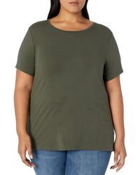 Amazon Essentials Plus Size Short-sleeve Crewneck T-shirt - Green