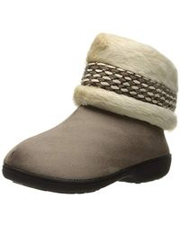 Isotoner Boot W/enhanced Heel Cushion Slipper - Multicolor