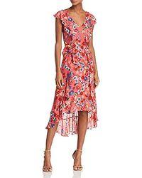Parker - Annabel Flutter Sleeve Front Zipper High Low Dress - Lyst