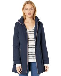 Tommy Hilfiger Soft Shell Rain Jacket With Detachable Hood - Blue