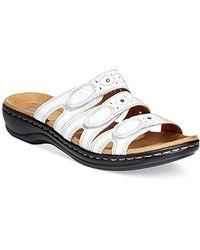 Clarks Leisa Cacti Slide Sandal - White