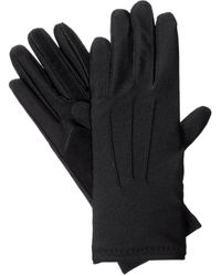 Isotoner Womens Stretch Classics Fleece Lined Winter Gloves - Black
