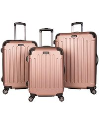"Kenneth Cole Reaction Renegade 16"" Hardside Expandable 4-wheel Spinner Mini Carry-on Luggage - Pink"