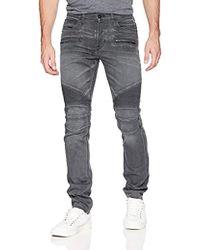 Hudson Jeans Blinder Biker Moto Jeans - Gray