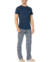 Emporio Armani Premium Modal Pajama Set - Blue