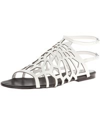 Charles David Nancy Gladiator Sandal,white,6 M Us