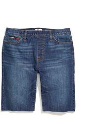 Tommy Hilfiger Adaptive Pull On Bermuda Shorts With Elastic Waist - Blue