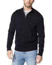 Nautica Quarter-zip Sweater - Black