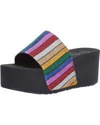 Jessica Simpson Faille Slide Sandals - Multicolor