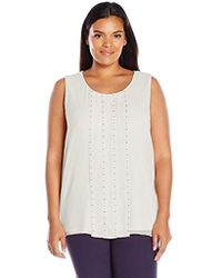 Calvin Klein - Plus Size Sleeveless Top With Stud Detail - Lyst