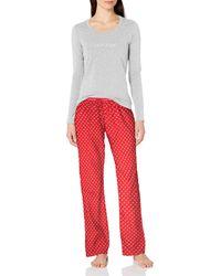 Calvin Klein 3 Piece Comfort Fleece Set - Red