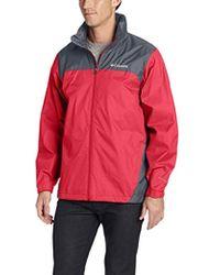 Columbia - Glennaker Lake Front-zip Rain Jacket With Hideaway Hood - Lyst