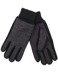 Levi's - Jersey Touchscreen Gloves With Stretch Fabric Grip, Charcoal Mix, Medium - Lyst