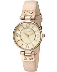 Anne Klein - 10/9442 Leather Strap Watch - Lyst