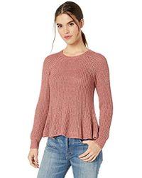 Ella Moss - Mia Swing Hem Crop Body Sweater - Lyst
